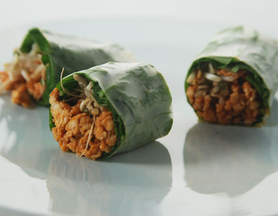 Quick Rice Paper Rolls With Spinach