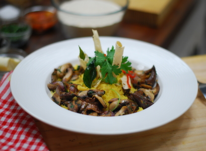 Quinoa Upma with Mushrooms