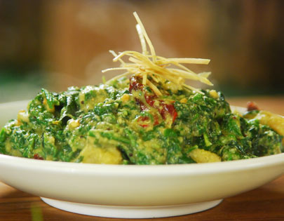 How to make raw banana with greens recipe by masterchef sanjeev kapoor forumfinder Gallery