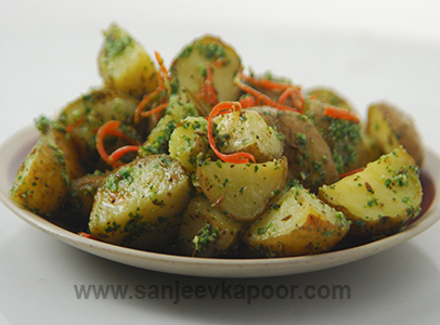 Roasted Potatoes Salad with Pesto