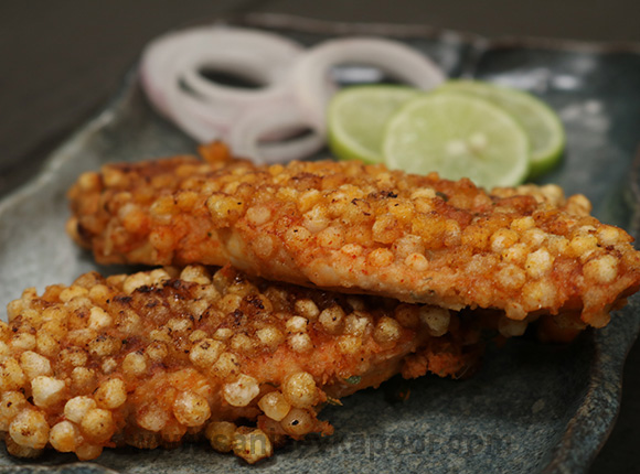Sabudana Baked Chicken