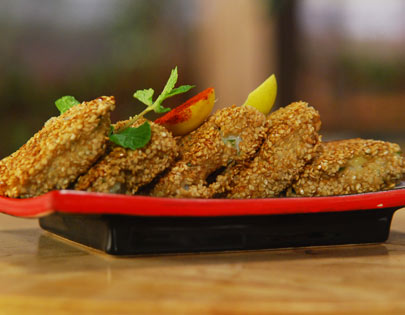 Sesame And Coriander Coated Fish