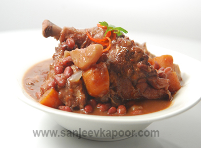 Slow Cooked Chicken with Kidney Beans