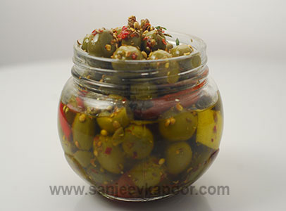 Spiced Olives and Dried Tomatoes