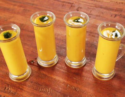 Spiced Carrot Soup Shots