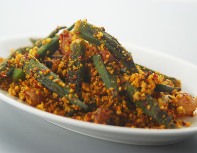 Spicy Bhindi Andhra Style
