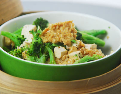 Steamed Tofu with Chicken Mince