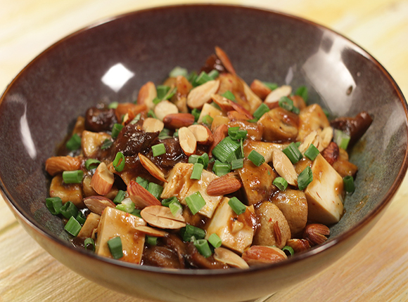 Stir Fried Spicy Mushroom with Tofu - SK Khazana