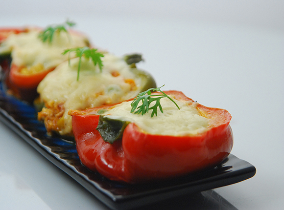 Stuffed Capsicum - Cook Smart