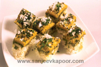 Tri Coloured Dhokla