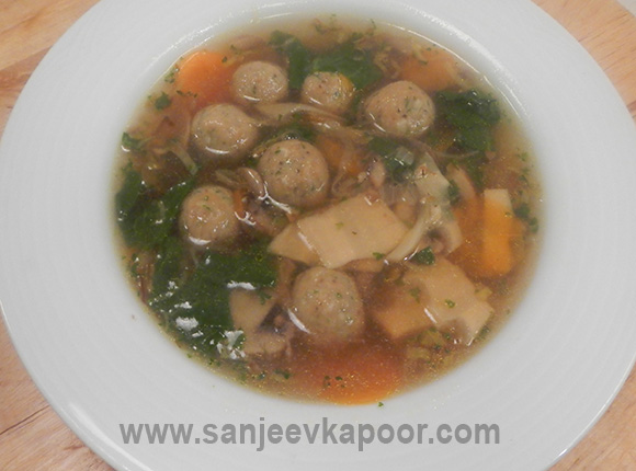 Vegetable Soup with Lemon Parsley Dumplings