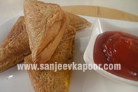 Aloo Corn Cheese Sandwich