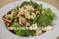 Apple, Baby Spinach and Blue Cheese Salad