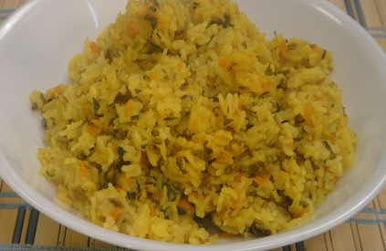 Carrot and Spinach Khichdi