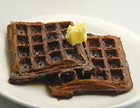 Dark Chocolate and Orange Marmalade Waffles-Cook S