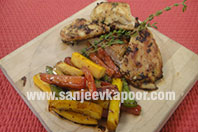 Grilled Chicken with Marinated Vegetables