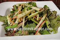 Herb Salad with Raw Mango and Apple