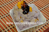 Mango and Blueberry Yogurt