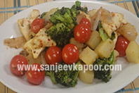 Masaledar Aloo Paneer and Broccoli