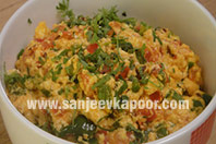 Paneer and Capsicum Bhurji