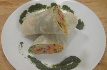 Paneer and Soya Wrap