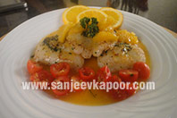 Seared Fish in Orange Sauce